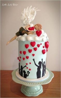 Silhouette cake - For all your cake decorating supplies, please visit craftcompany.co.uk