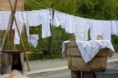 vintage whites hanging out to dry