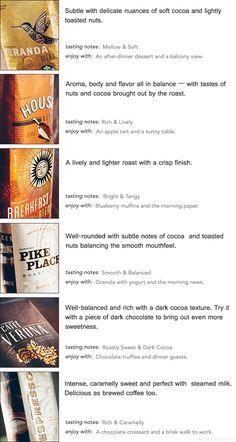 Starbucks Coffee blends #starbucks