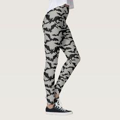 Women's Leggings-Halloween Bats Leggings #halloween #holiday #creepyhollow #women #womensclothing
