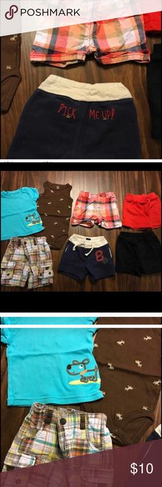 🎉final price🎉 Baby boy 0-3 month lot Baby boy 0-3 month lot. Carter's, Target and the navy pick me up shorts are baby gap. Smoke free home. Carter's Bottoms Shorts