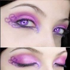 purple eye swirls
