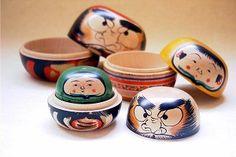 mamazakka: A brief history of Matryoshka, Kokeshi, and Daruma dolls