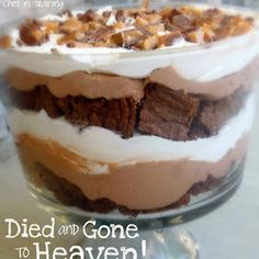 DIED AND GONE TO HEAVEN (aka chocolate trifle)