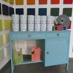 Chalk Paint en Mandarina Showroom Las Palmas - Amarillo VerdeLimón Blog