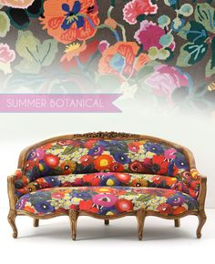 Floral Couch // Amelie Sofa Blazing Poppies // Anthropologie