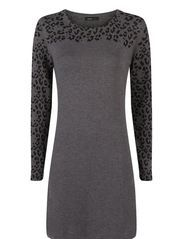 Animal print dress - Medium grey