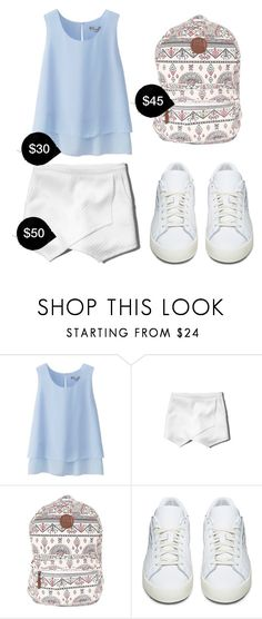 """My First Polyvore Outfit"" by rosedaled ❤ liked on Polyvore featuring Uniqlo, Abercrombie & Fitch, Billabong and adidas Originals"
