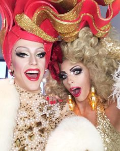 Thorgy Thor and Alyssa Edwards Drag Queens, Alyssa Edwards, Drag Makeup, Family Affair, Double Trouble, Girls Be Like, Amazing Women, My Girl, Glamour