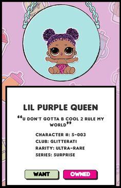 Lol Surprise Dolls Quot Purple Queen Quot Series Surprise Ultra