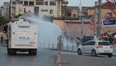 Taksim savaş alanına döndü