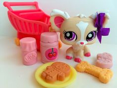 Littlest Pet Shop RARE Cream & Pink Chihuahua w/Shopping Cart & Accessories Little Pet Shop, Little Pets, Lps For Sale, Peru, Lps Toys, Lps Littlest Pet Shop, Toy Craft, Dog Accessories, Toys For Girls