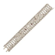 Highly Important Rare Art Deco Diamond Bracelet