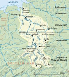 Weser - Wikipedia, the free encyclopedia Oldenburg, Germany Poland, Rome Antique, Austro Hungarian, Minden, Medieval, Empire, Europe, River