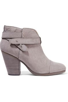 Heel measures approximately 90mm/ 3.5 inches Gray nubuck Push stud-fastening ankle strap Made in Italy
