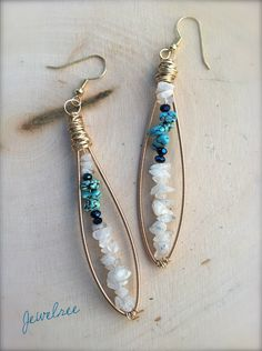 HOWLite at the MOONstone guitar string earrings <><>  www.DesignsByJewelree.Etsy.com $24