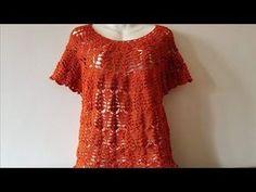 Blusa de mujer todas las tallas muy facil y rapida Majovel - YouTube Crochet Box, Crochet Tunic, Oversized Dress, Baby Cardigan, Crochet Videos, Baby Dress, Crochet Projects, Crochet Patterns, Sweaters For Women