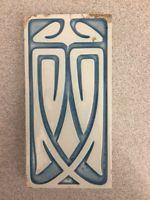 Art Nouveau tiles tile Villeroy & Boch Mettlach 7,7 x 15,4 cm