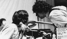Richard Wright and Syd Barrett during rehearsals for the Games for May Concert, May 1967.