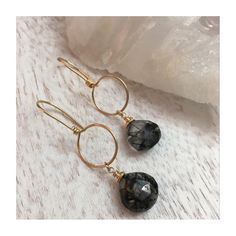 Stunning Black Tourmalinated Quartz Earrings! Available in the shop with free domestic shipping.