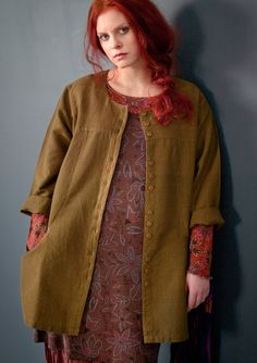 Jacket in linen & cotton – Weaves – GUDRUN SJÖDÉN – Webshop, mail order and boutiques   Colourful clothes and home textiles in natural materials.