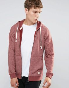 Get this Jack   Jones s hooded sweatshirt now! Click for more details.  Worldwide shipping. Jack   Jones Vintage Zip Up Hoodie - Red  Hoodie by Jack  Jones, ... 91701800df