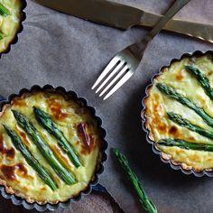 Three Cheese Asparagus Tart | foodgawker » gluten free | foodgawker | Bloglovin'