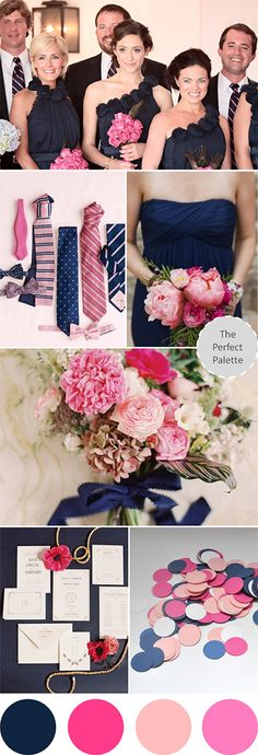 Navy and pink wedding ideas http://www.bridalguide.com/planning/wedding-planning-basics/wedding-colors?page=0,7