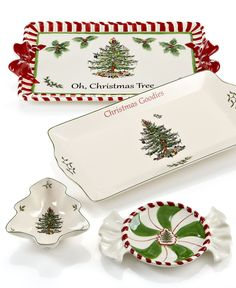 Spode Serveware, Christmas Tree Macy's Exclusive Collection - Casual Dinnerware - Dining & Entertaining - Macy's Christmas China, Spode Christmas Tree, Christmas Dishes, Christmas Tablescapes, Christmas Kitchen, Christmas Home, Vintage Christmas, Christmas Holidays, Christmas Crafts