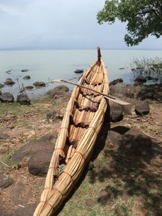 Ethiopian papyrus boat – the main form of transportation for fisherman on the lake, and for priests to get to island monasteries