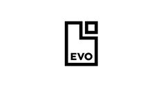 Logo with a restrained geometric and monochromatic aesthetic for Spanish bank Evo designed by Saffron