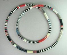 Bead Crochet Necklace and Earrings Tubular by GaslightOriginalBdwk