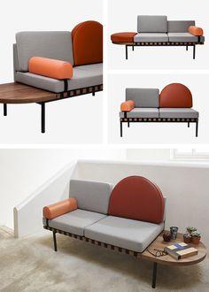 Petite Friture Grid Sofa - Brick