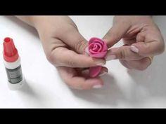 Aprenda De Uma Maneira Prática Como Fazer Rosas em EVA - Passo a Passo - YouTube Handmade Crafts, Diy And Crafts, Handmade Rakhi Designs, Foam Crafts, Fabric Flowers, Projects To Try, Valentines, Creative, Youtube