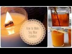How to make Scented Soy Wax Candles for under $4 - YouTube