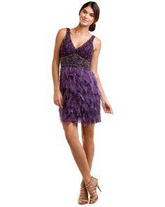 Sue Wong Plum Beaded Dress