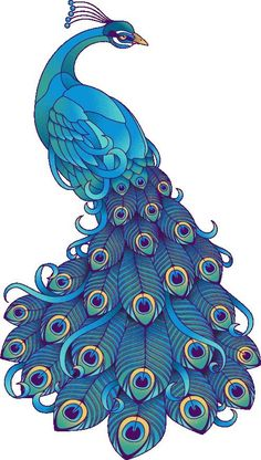 ~ CLIP ART GALORE ~ Peacock