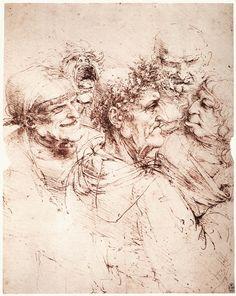 Leonardo da Vinci's Bizarre Caricatures & Monster Drawings | Open Culture