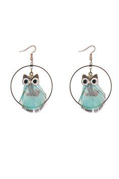 SHUANGR 2018 New Fashion Statement Jewelry Drop Owl Earrings Tassel Long Earring For Women 2 Colors Wedding Dangle Earrings Owl Earrings, Circle Earrings, Feather Earrings, Pendant Earrings, Drop Earrings, Fashion Earrings, Fashion Jewelry, Owl Feather, Vintage Owl