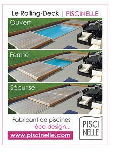 Ouvert, fermé, sécurisé. Tels sont les mots qui définissent le mieux le Rolling-Deck Piscinelle. Véritable innovation de la couverture mobile pour piscine !