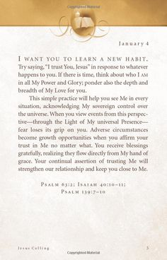 Jesus Calling: Enjoying Peace in His Presence by Sarah Young Best Devo EVER trust god in hard times Jesus Calling Devotional, Daily Devotional, Faith Quotes, Bible Quotes, Qoutes, Christian Life, Christian Quotes, Dale Carnegie, Lord
