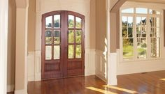 Front Entry Wood Doors Are Simply The Most Beautiful Doorways Available.  Contact The Professionals At The Window Door And Trim Store To Learn More.