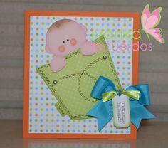 #Punchart baby shower invitation card visit me at http://stampingwithbibiana.blogspot.com/