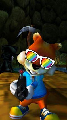 Crash Bandicoot, Sailor Moon, Conkers, Xbox, Snapchat, Mirrored Sunglasses, Bird, Wallpaper, Banjo