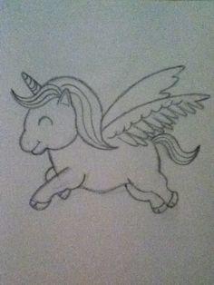 Eenhoorn tekening