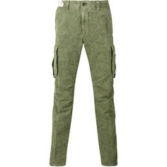 Incotex printed cargo trousers (€305) ❤ liked on Polyvore featuring men's fashion, men's clothing, men's pants, men's casual pants, green, mens green cargo pants, mens green pants and mens cargo pants
