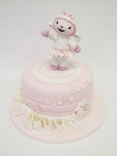 Emma Jayne Cake Design Doc Mcstuffins Cake, Doc Mcstuffins Birthday Party, Girly Cakes, Cute Cakes, Fondant Cakes, Cupcake Cakes, Sheep Cake, Birthday Cake Girls, Birthday Cakes