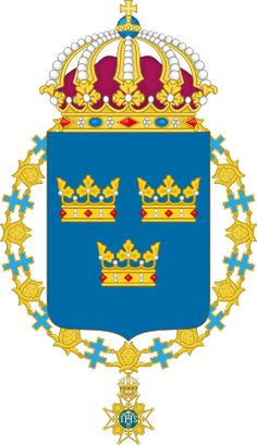 Lesser Coat of arms of Sweden Denmark Royal Family, Swedish Army, King George, Wikimedia Commons, Coat Of Arms, Herb, Scandinavian, Flag, Nice Clothes