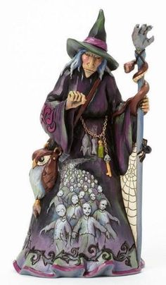 Jim-Shore-Witch-With-Zombie-Scene-4041138-BRAND-NEW-Free-Shipping