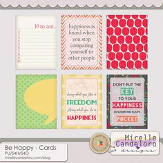 Be Happy - Cards :: Journal Cards :: Project 365 :: Memory Scraps